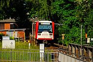 U-Bahn am Bahnhof Kellinghusenstraße in Hamburg