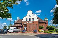 Bahnhofsgebäude in Wrist in Schleswig-Holstein