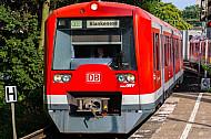 S-Bahn im Bahnhof Holstenstraße in Hamburg