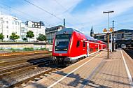 Regionalexpress nach Kiel im Hamburger Hauptbahnhof