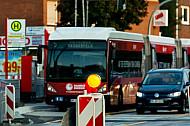Buaarbeiten für Busbeschleunigung in Hamburg