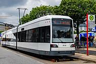 Stadtbahn aus Bremen in 2010 zur Ausstellung in Hamburg