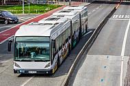 Metrobus der Linie M5 am Dammtor in Hamburg