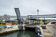 Laderampen im dänischen Fährhafen Rödby an der Vogelfluglinie.
