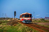 Lemvigbanen-Triebwagen bei Rønland