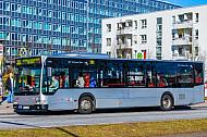 Bus der VHH bei Hagenbecks Tierpark in Hamburg
