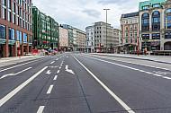 Fahrradspur am Gänsemarkt in Hamburg