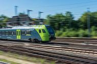 Ein Regionalzug der Nordbahn in Hamburg-Eidelstedt