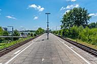 Ein leerer Bahnsteig in der S-Bahn-Haltestelle Diebsteich in Hamburg. Diese Station soll für den neuen Fernbahnhof Altona weichen