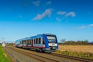 AKN-Triebwagen vom Typ LINT in Bönningstedt