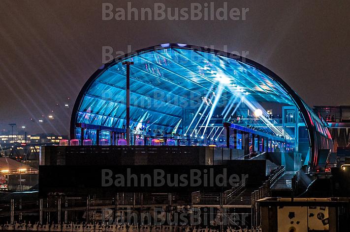 Eröffnung des neuen U-Bahnhofs Elbbrücken in der HafenCity in Hamburg