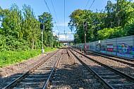 Bahngleise in Wandsbek in Hamburg