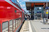 Regionalbahn im Bahnhof Hamburg-Tonndorf