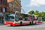 Hochbahn-Bus in Hamburg