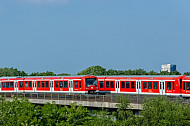 S-Bahnen in Altona Nord in Hamburg