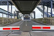 Eisenbahnverladerampe im dänischen Fährbahnhof Rödby (Vogelfluglinie/Scandlines).