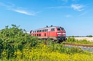 Diesellok Baureihe 218 auf Fehmarn