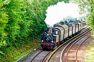 Historische Dampf-S-Bahn auf der Linie S1 in Hamburg-Rissen