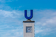 U-Bahn-Symbol an der Feldstraße in Hamburg