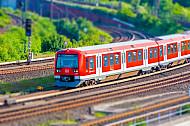 S-Bahn in Altona Nord in Hamburg