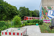 S-Bahn am geplanten neuen Bahnhof Ottensen
