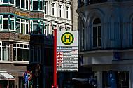 Haltestellenschild Gänsemarkt in Hamburg