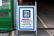 Infoschild: Park and Ride-Anlage ist ab sofort kostenpflichtig