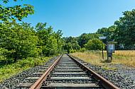 Stillgelegte Eisenbahnstrecke  auf Fehmarn
