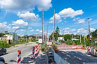 Bahnübergang Hammer Straße in Hamburg mit Bauarbeiten