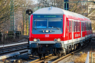 Regionalbahn nach Itzehoe am Bahnhof Dammtor in Hamburg