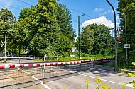 Bahnübergang Claudiusstraße in Hamburg