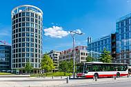Hochbahn-Bus in der HafenCity in Hamburg
