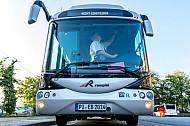 Elektrobus der VHH im Betriebshof Schenefeld