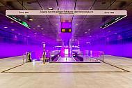 Vorhalle U-Bahnhof HafenCity Universität in Hamburg