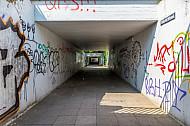 Fußgängertunnel am S-Bahnhof Diebsteich in Hamburg