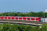 S-Bahn in Altona Nord in Hamburg