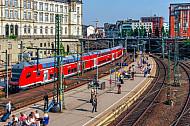 Regionalbahn am Hamburger Hauptbahnhof