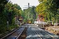 Zweigleisiger Ausbau der AKN-Bahnstrecke am Haltepunkt Burgwedel in Hamburg