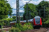 Regionalexpress nach Kiel auf der Verbindungsbahn in Hamburg