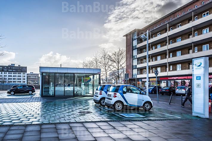 Switchh-Mobilitätsstation in Hamburg