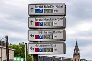 Parkleitsystem in Hamburg