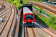S-Bahn am Hamburger Hauptbahnhof