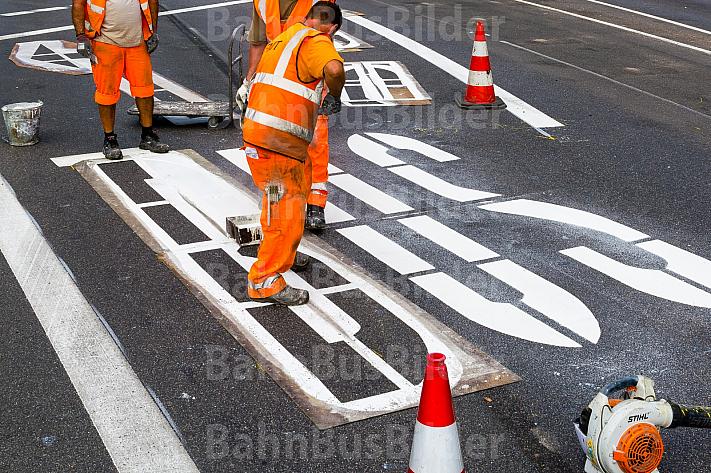 Bauarbeiten für Busbeschleunigungsprogramm in Hamburg