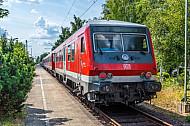 Regionalzug in Wrist in Schleswig-Holstein