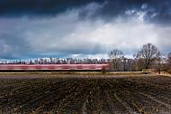 Hamburger Zweisystem-S-Bahn im Winter zwischen Fischbek (Hamburg) und Neu Wulmstorf (Niedersachsen)