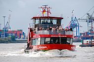 Hafenfähre Reeperbahn in Hamburg