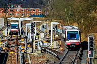 U-Bahnen am Bahnhof Hagenbecks Tierpark