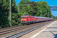 Regionalbahn in Halstenbek bei Hamburg