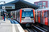 U-Bahn am Baunwall im Hamburger Hafen