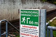 Notausstieg am U-Bahnhof Schlump in Hamburg